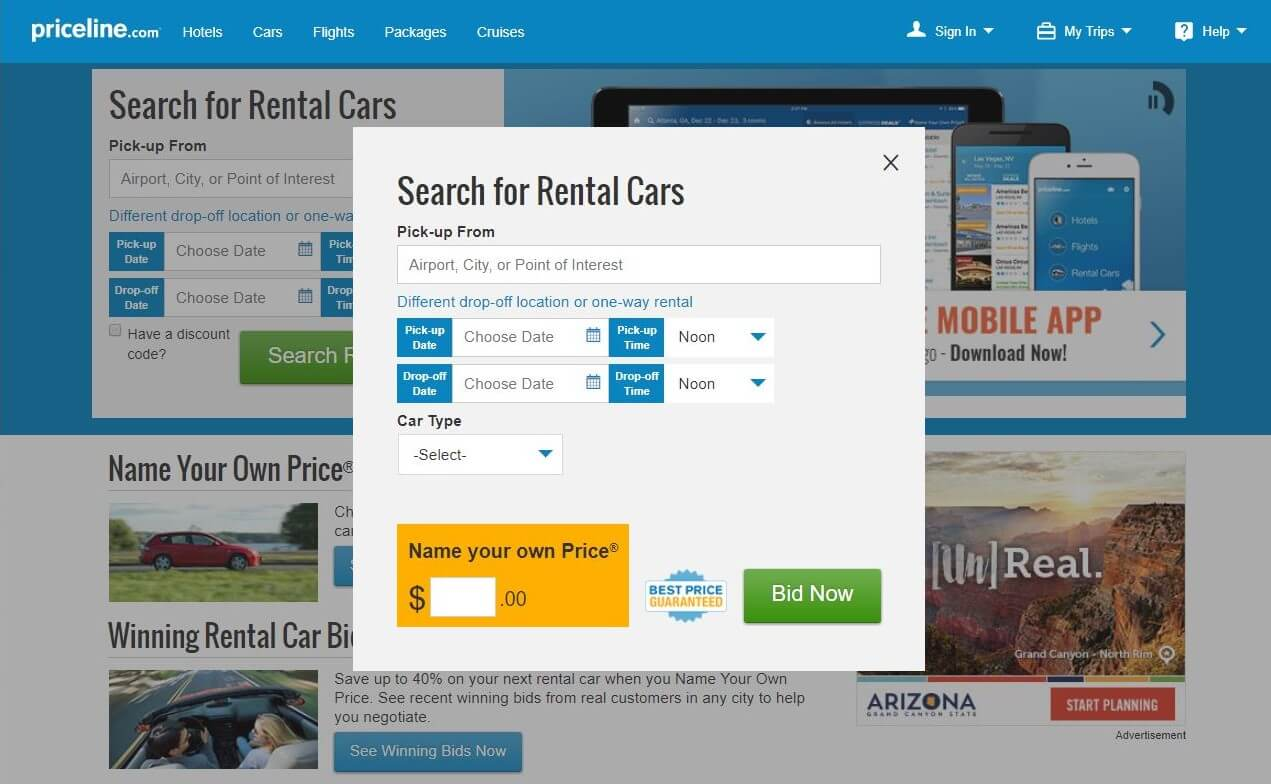 Going Blind—Getting A Better Car Rental Rate With